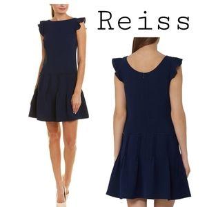 "Reiss ""Melanie Pinktuck"" Dress- Navy Sz 6 Org $345"